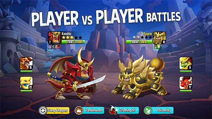 PvP Battle Dragon City