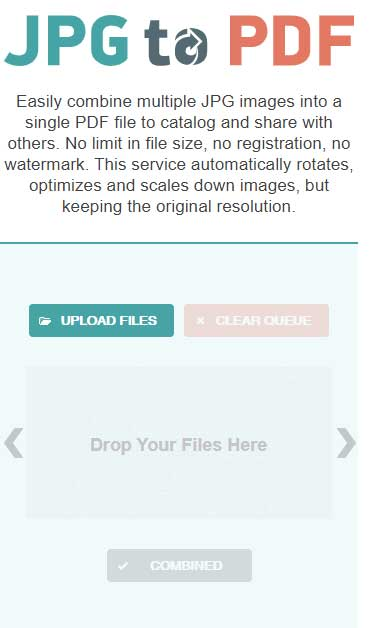 Convert JPG tke PDF Secara Online