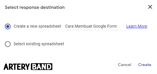 membuat google spreadsheet