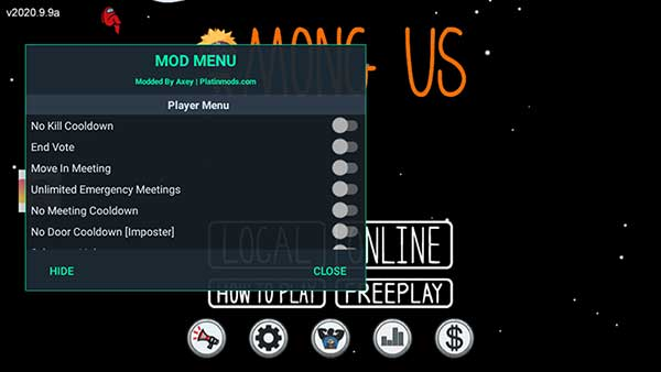 mod menu among us naruto