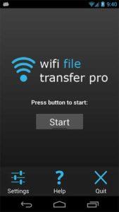 start wifi file transfer pro