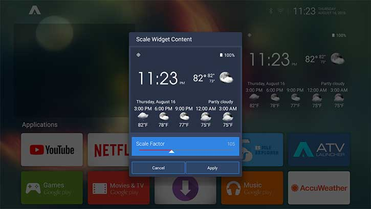 widget content atv launcher