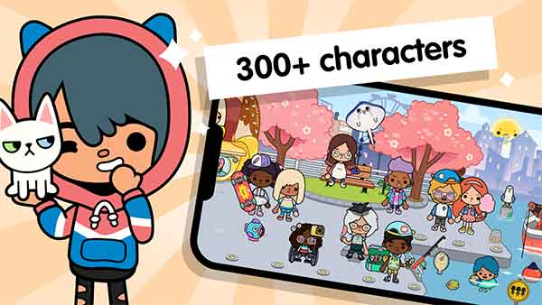 more than 300 characters in toca life world apk