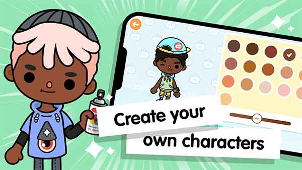 toca life world mod apk create your own character